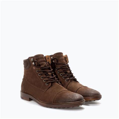 Zara Boots Original zara homme bottines worker en cro 219 te de cuir mode