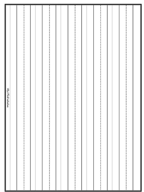printable handwriting paper 4 lines four line writing paper printable