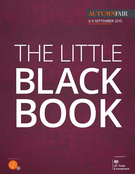 the little black book 0061234907 the little black book by spring autumn fair issuu