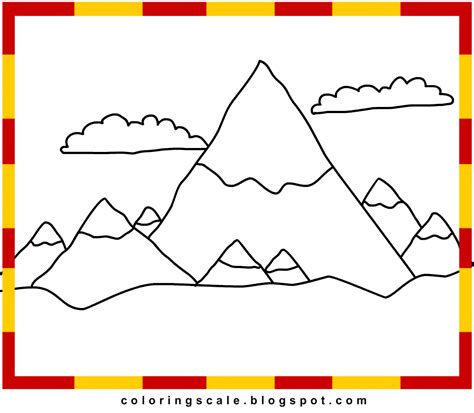 Free Coloring Pages Of Rocky Mountains Mountain Coloring Page 2