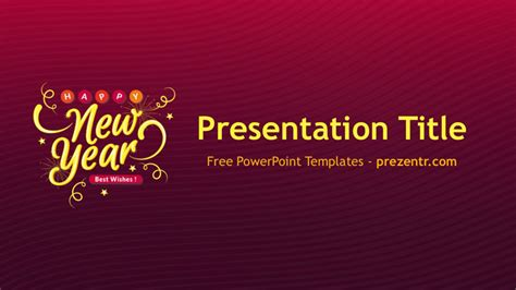 Free New Year 2018 Powerpoint Template Prezentr Ppt New Year Powerpoint