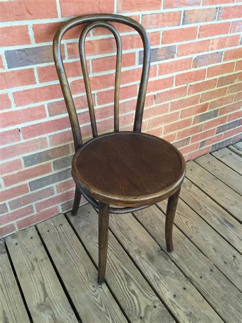 vintage thonet style bentwood chair embossed seat