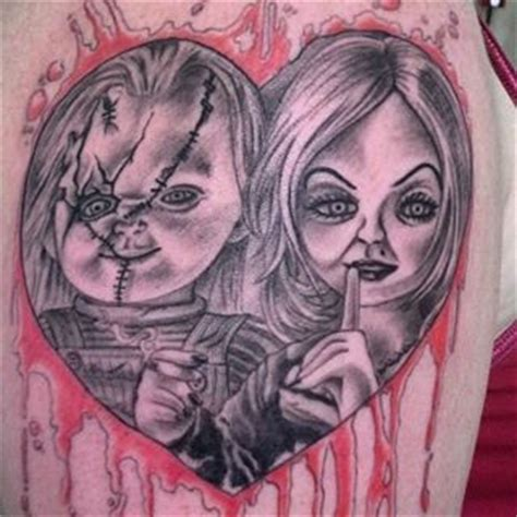 bride of chucky tattoo chucky and his chucky and
