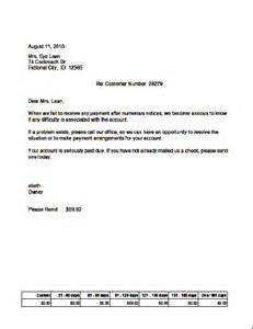 credit collection letter template collection letter