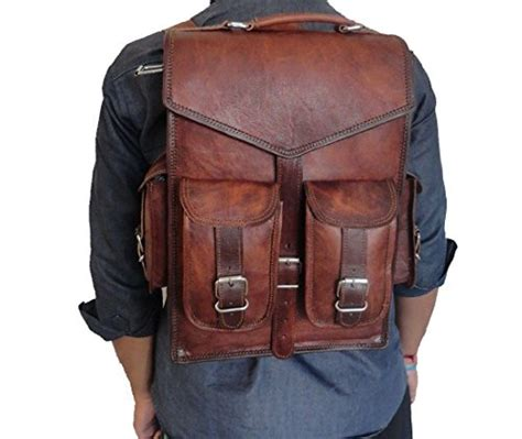 Handmade World - handmade world 15 quot brown vintage leather backpack laptop