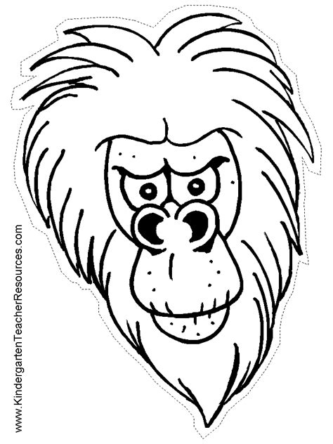 monkey mask coloring page monkey mask coloring coloring pages
