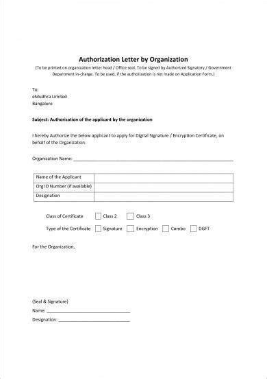 signature authorization letter examples examples