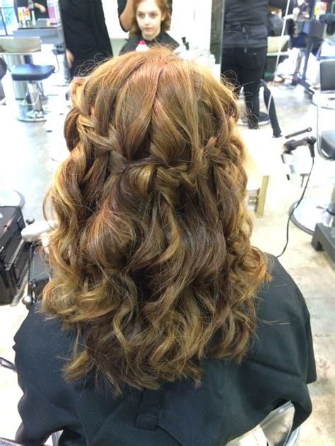 homecoming hair braids instructions best 25 waterfall braid curls ideas on pinterest