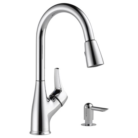 peerless kitchen faucet repair p88121lf sd w single handle pull kitchen faucet with soap dispenser