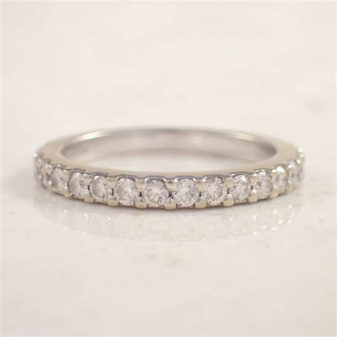 Estate Jewelry by 14k White Gold Band Attos Antique Estate Jewelry