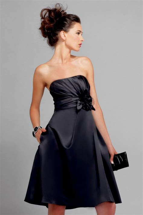 black bridesmaid dresses with sash for the eye catching
