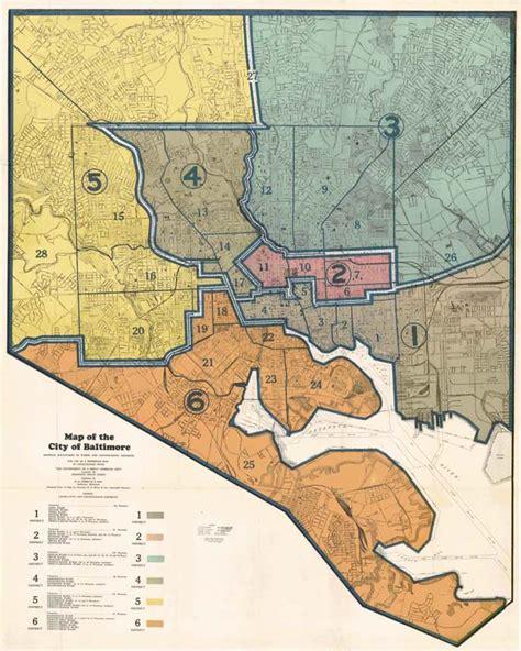 baltimore city map baltimore city 1935