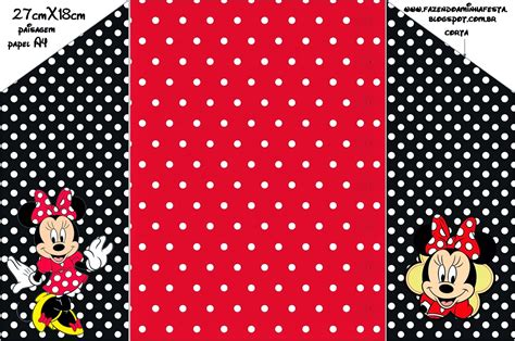 printable minnie mouse envelope minnie red black yellow and polka dots free printable
