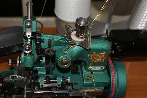 Pisau Atas Untuk Mesin Jahit Obras memasang benang pada mesin obras nya wiwik