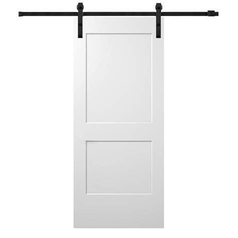 32 X 80 Barn Door by Mmi Door 72 In X 80 In Primed Composite Clear Glass 15