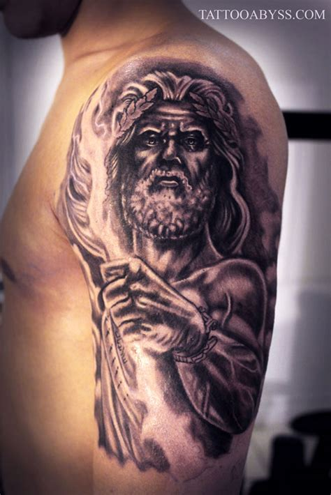 zeus sleeve tattoo abyss