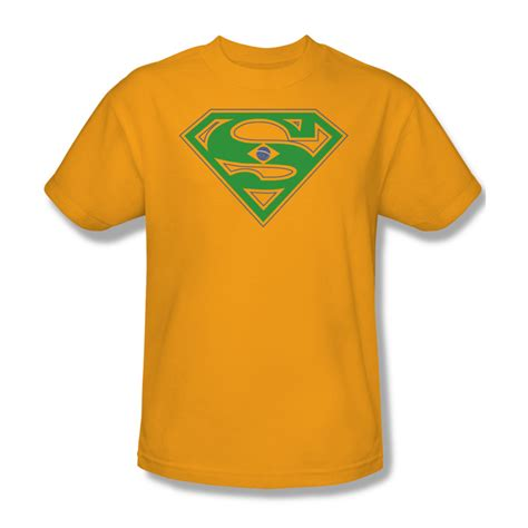 T Shirt Bodyfit Superman Gold superman shirt brazil shield gold t shirt superman