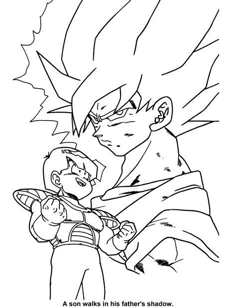 Dragon Ball Z Christmas Coloring Pages | dragon ball z christmas coloring pages