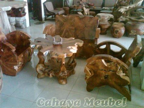 Kursi Akar Kayu kursi teras antik model akar kayu cahaya mebel jepara