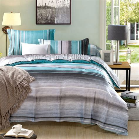 Free Shipping Luxurious Tencel 4pc Full Queen King Bedding Modern Bedding Sets
