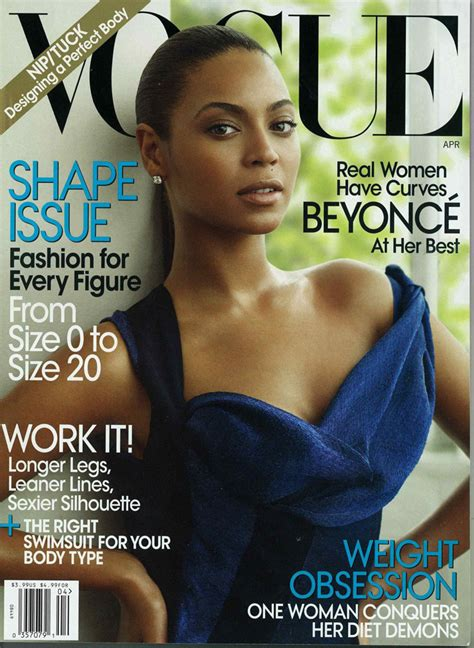 Beyonce On The Cover Of by Beyonce Covers Us Vogue Shape Issue The Fashion Cult