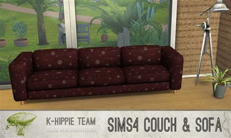 red couch potatoes 15 couch potatoes sofa recolors vol 1 at k hippie 187 sims