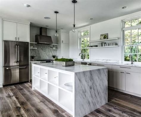 32 Trendy And Chic Waterfall Countertop Ideas   DigsDigs