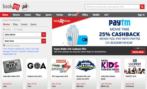 bookmyshow payment toknow in a site for indians