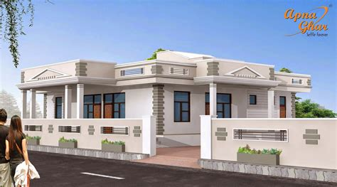 5 bedrooms simplex house design apnaghar house design