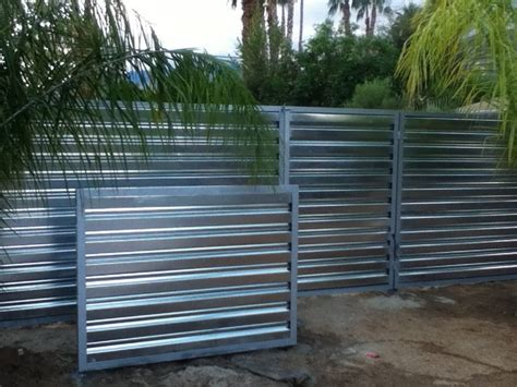 corrugated metal fence ideas corrugated metal fence palm springs style