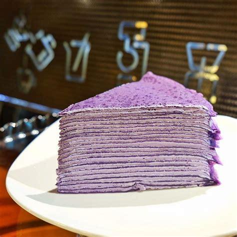 Mille Crepes Cake ube mille crepe cafe restaurante mille