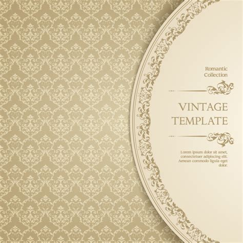 vintage pattern adobe illustrator ornate vintage template background vector free vector in