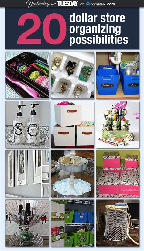 cheap organization ideas 20 dollar store organizing ideas yesterday on tuesday