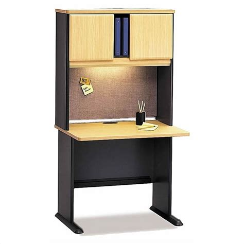 Beech Corner Desk Bush Business Series A Corner Desk With Hutch Office Suite In Beech Bsa009 143