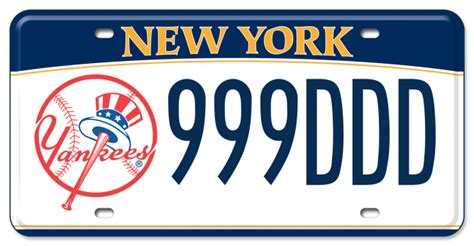 Vanity Plates Ny by New York Yankees New York State Of Opportunity Department Of Motor Vehicles