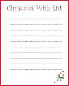 Printable Christmas Wish List Template Holiday Wish List Template Search Results Calendar 2015