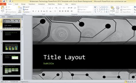free ppt templates for electronics widescreen technology powerpoint 2013 template with