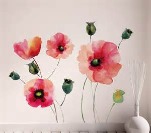 Decorative Wall Murals brewster wallpaper watercolor poppies wall decals