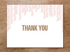Thank You Card Templated by Thank You Card Template Pink
