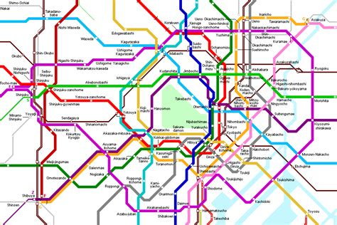 Simple Tokyo by Tokyo Subway Maps Tired Traveler S
