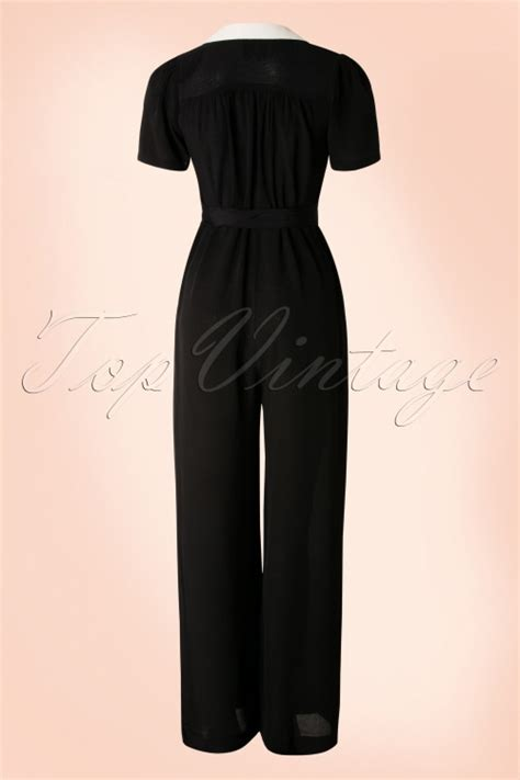 Jumpsuit Sirene 40s gloria siren jumpsuit in black