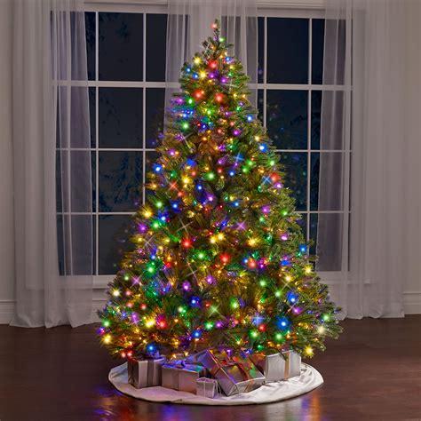 the tabletop prelit christmas tree hammacher schlemmer the world s best prelit douglas fir 6 5 slim led
