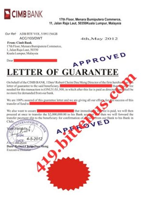 Aia Guarantee Letter Malaysia Dato Robert Cheim Dau Meng I Never Any Complain Of My Duty