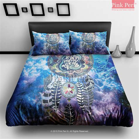 dreamcatcher bedding dream catcher on nebula galaxy cloud from pink peri