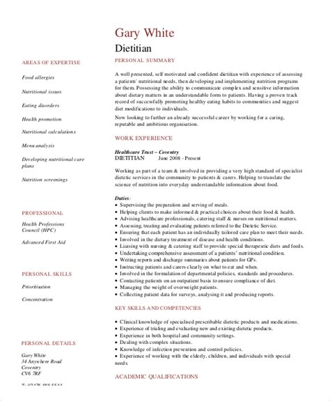 dietitian resume template 6 free word pdf documents free premium templates