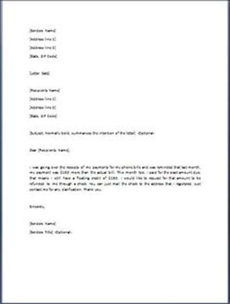 business letter billing error 1000 images about word business templates on