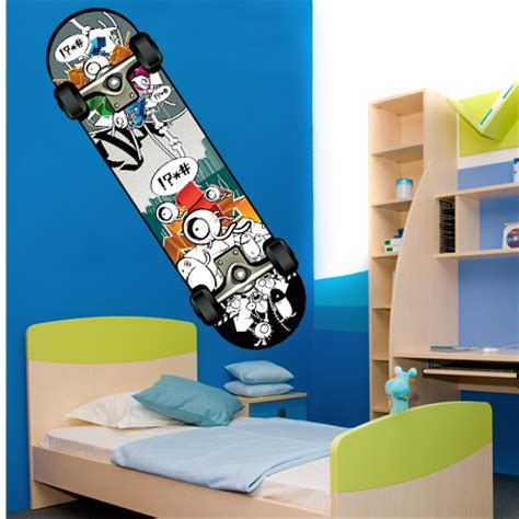 skateboard wall stickers wallstickers folies skateboard wall stickers