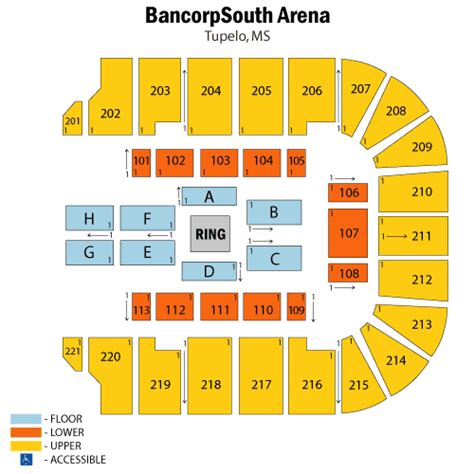 bancorpsouth arena seating map world entertainment may 08 tickets