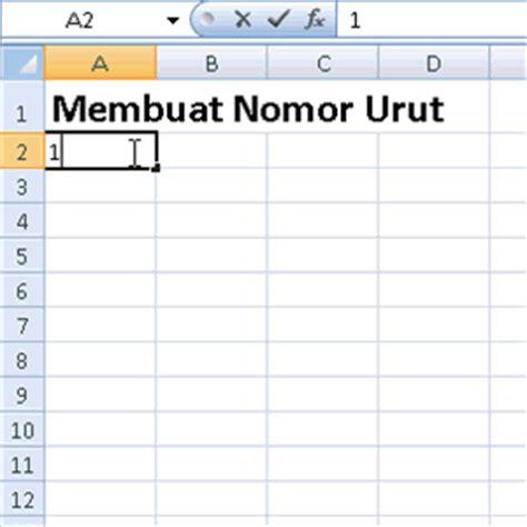 cara membuat nomor urut surat belajar microsoft office itc word excel powerpoint cara