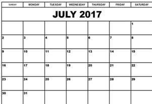 july 2017 calendar printable archives social funda